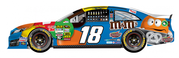 No. 18 Kyle Busch (Courtesy of NASCAR.com)