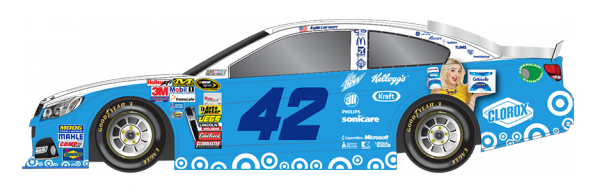No. 42 Kyle Larson (Courtesy of NASCAR.com)