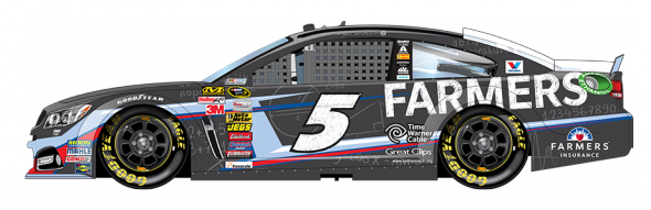 No. 5 Kasey Kahne (Courtesy of NASCAR.com)