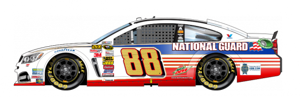 No. 88 Dale Earnhardt Jr. (Courtesy of NASCAR.com)