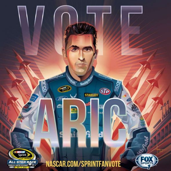 No. 43 Aric Almirola (Courtesy of FOXsports.com)