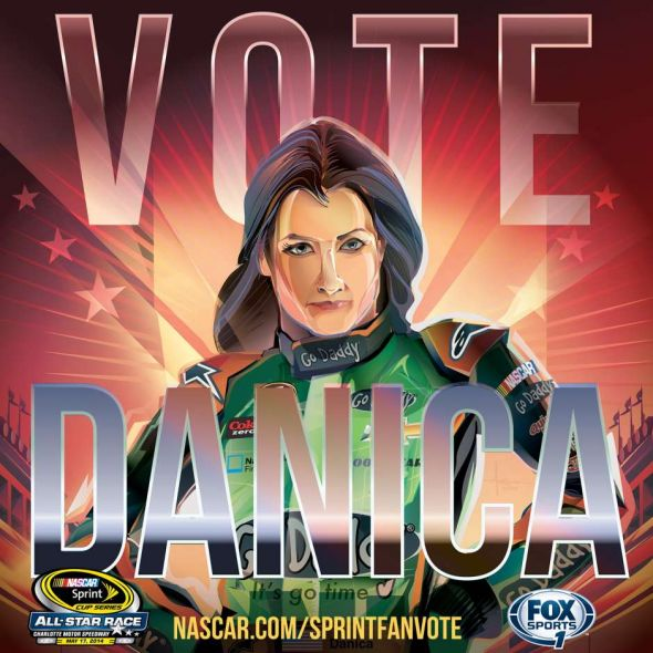 No. 10 Danica Patrick (Courtesy of FOXsports.com)