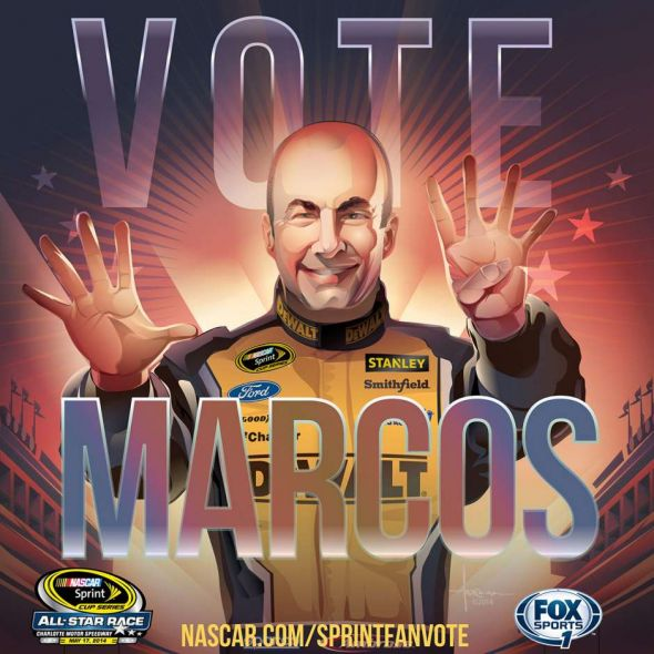 No. 9 Marcos Ambrose (Courtesy of FOXsports.com)