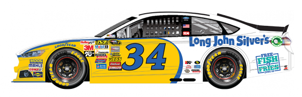 No. 34 David Gilliland (Courtesy of NASCAR.com)