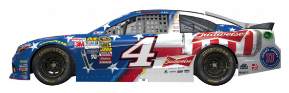 No. 4 Kevin Harvick (Courtesy of NASCAR.com)