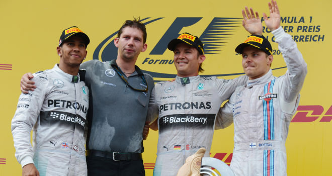 Austrian GP podium
