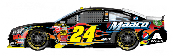 No. 24 Jeff Gordon (Courtesy of NASCAR,com)