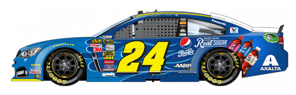 No. 24 Jeff Gordon (Courtesy of NASCAR.com)