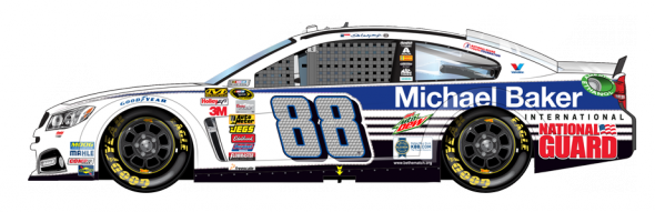 No. 88 Dale Earnhardt Jr. (Courtesy of NASCAR,com)