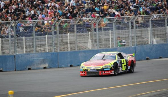 Ander Vilarino won his third race of the season, the 16th of his NASCAR career, and the first on an oval in five tries. Credit: Stephane Azemard/NASCAR Home Tracks