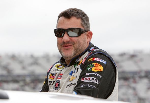 Oct 4, 2015; Dover, DE, USA; NASCAR Sprint Cup Series driver Tony Stewart prior to the AAA 400 at Dover International Speedway. Mandatory Credit: Matthew O