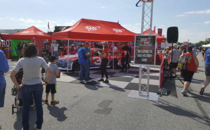One of the many tents setup outside of the track at Dover. AAA was giving out cold passes Saturday Morning. Photo Credit: Michael Guadalupe