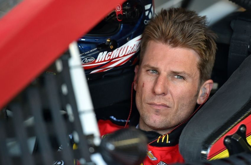 May 6, 2016; Kansas City, KS, USA; NASCAR Sprint Cup Series driver Jamie Mcmurray sits in his car during practice of the GoBowling 400 at Kansas Speedway. Mandatory Credit: Jasen Vinlove-USA TODAY Sports