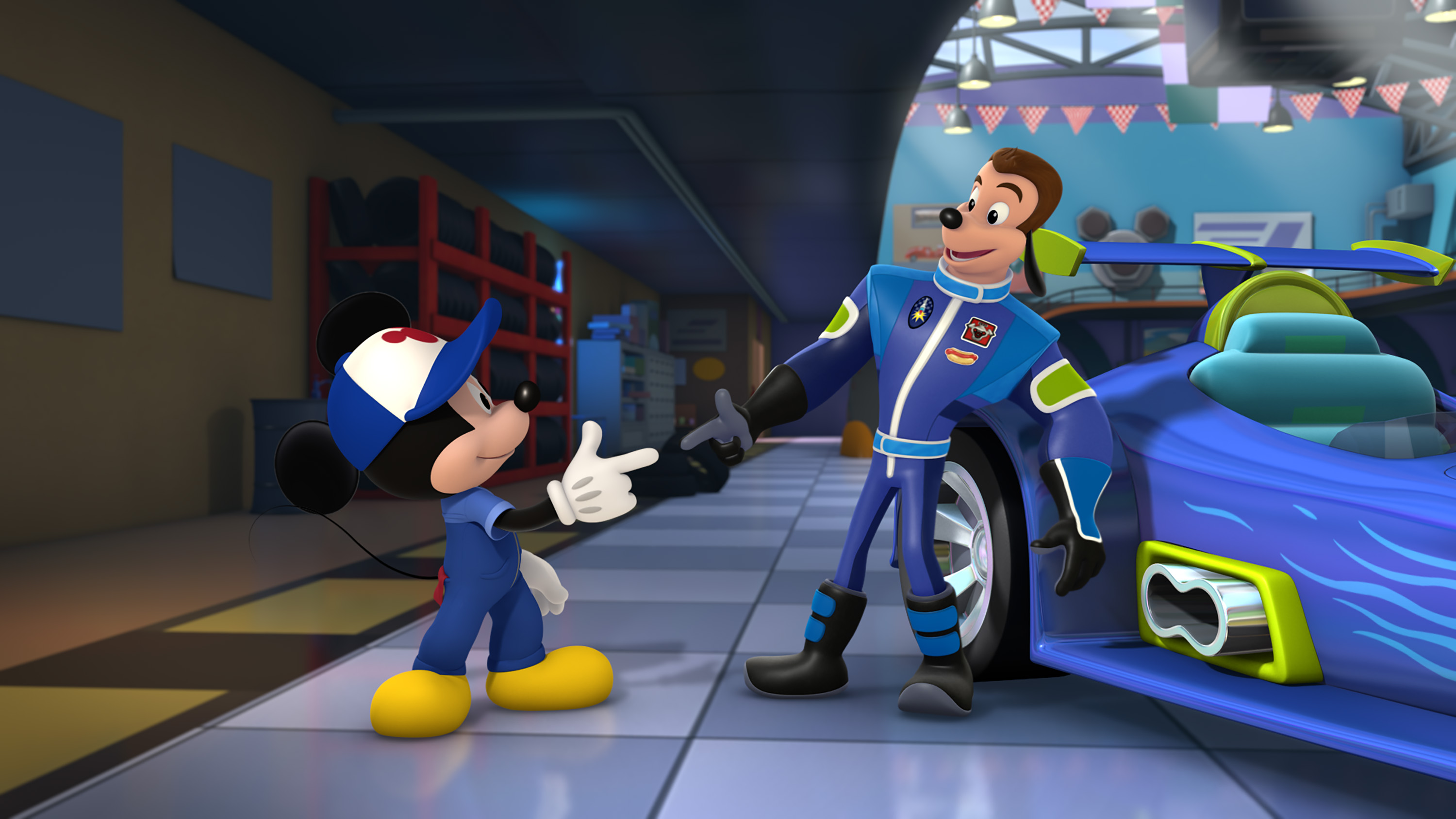 Nascar Stars Team With Mickey Mouse In New Disney Show