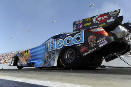 Rookie Chad Head earned his first No. 1 in Funny Car at the Four-Wide Nationals