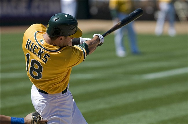 A's Trade Brandon Hicks to Mets