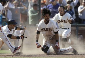 Angel Pagan, Marco Scutaro, Andres Torres