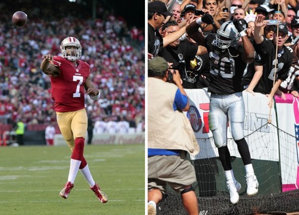 Colin Kaepernick (Cary Edmondson, USA TODAY Sports), and Darren McFadden (Kyle Terada, USA TODAY Sports)