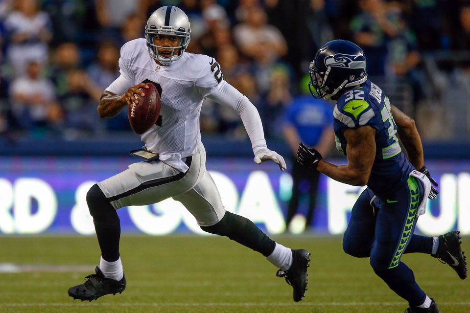 Terrelle Pryor v. Seahawks (Otto Greule Jr./Getty Images)