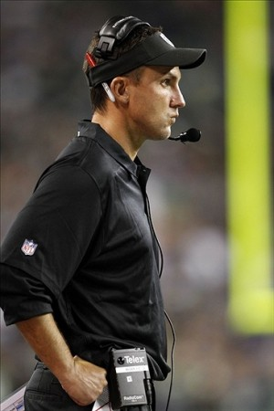 Aug 29, 2013; Seattle, WA, USA; Oakland Raiders head coach Dennis Allen watches play against the Seattle Seahawks during the second half at CenturyLink Field. Mandatory Credit: Joe Nicholson-USA TODAY Sports