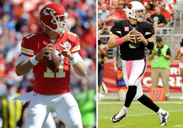 Alex Smith (Denny Medley-USA TODAY Sports) and Carson Palmer (Casey Sapio-USA TODAY Sports) have found new homes this season.