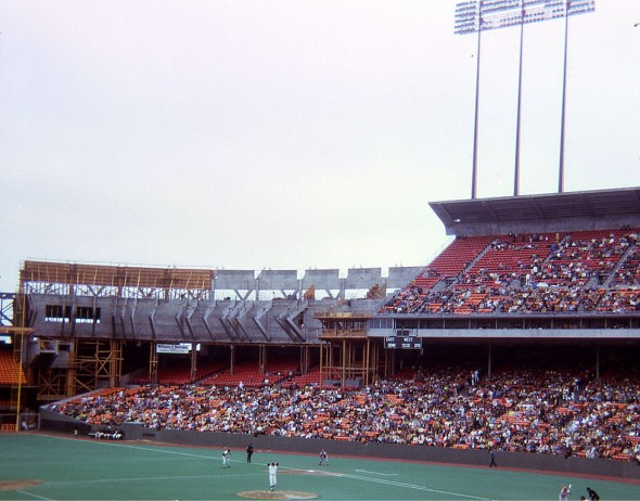 Candlestick Park as it appeared in July 1971. (Photo by Blake Bolinger/This file is licensed under the Creative Commons Attribution 2.0 Generic license.)
