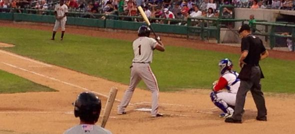 Daniel Carbonell at bat