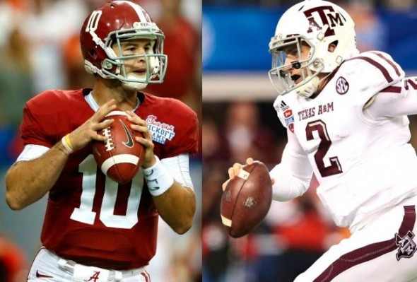 NCAA Football: A.J. McCarron and Johnny Manziel