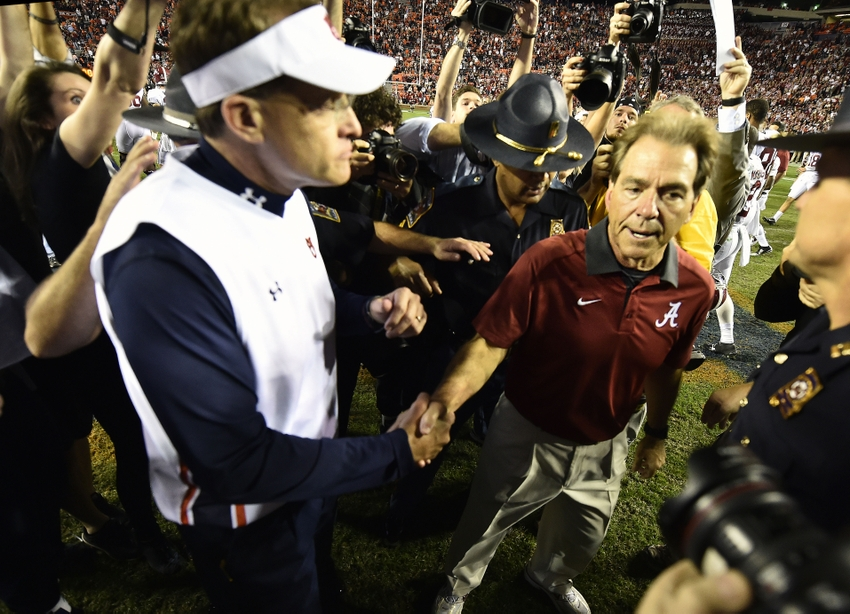 No. 1 Alabama knocks off Auburn in 81st Iron Bowl
