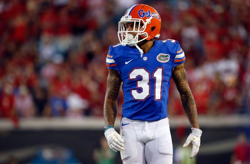 Oct 29, 2016; Jacksonville, FL, USA; Florida Gators defensive back Teez Tabor (31) against the Georgia Bulldogs during the second half at EverBank Field. Florida Gators defeated the Georgia Bulldogs 24-10. Mandatory Credit: Kim Klement-USA TODAY Sports