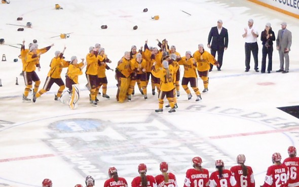 Minnesota wins 2013 Women's Hockey National Championship