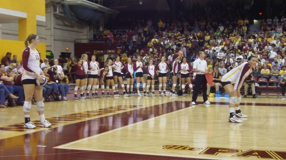 Minnesota Volleyball vs. Purdue - Ashley Wittman and Tori Dixon