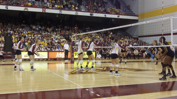 Gophers Volleyball vs Purdue