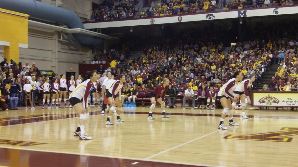 Gophers Volleyball versus Michigan State