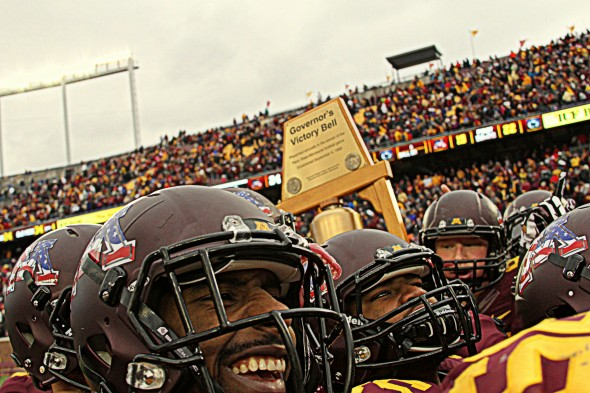 Minnesota football versus Penn State - Governor's Victory Bell