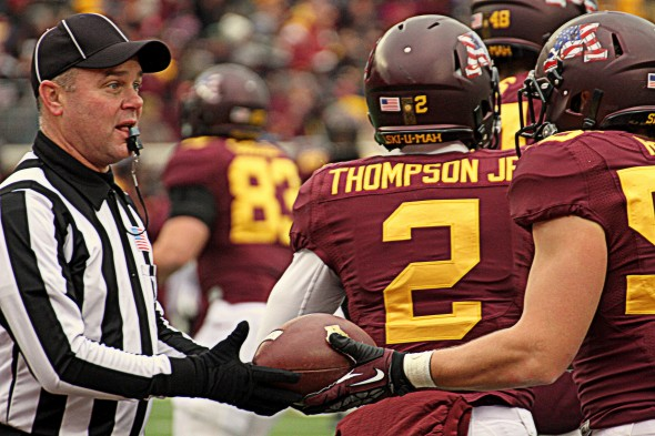 Minnesota football versus Penn State - Cedric Thompson Jr