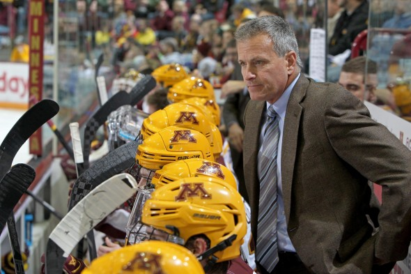 Minnesota Mens Hockey - Don Lucia on Bench