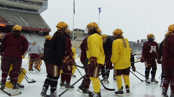 Minnesota Women's Hockey - Hockey City Classic practice