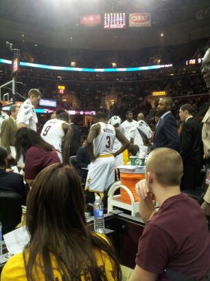 waiters huddle