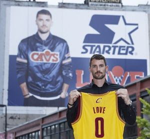 Kevin Love Next to Kevin Love Banner2