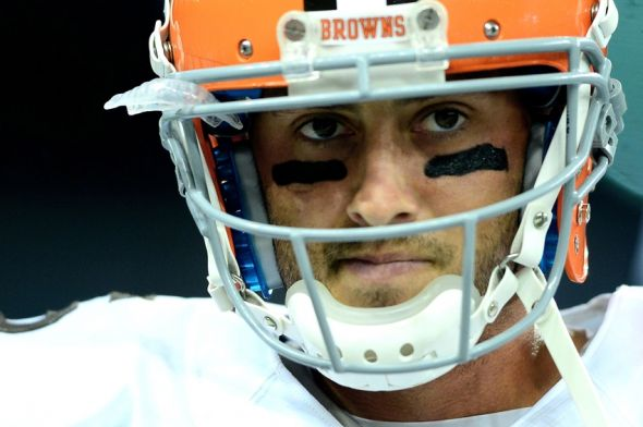 Aug 9, 2014; Detroit, MI, USA; Cleveland Browns quarterback Brian Hoyer (6) prior to the game against the Detroit Lions at Ford Field. Mandatory Credit: Andrew Weber-USA TODAY Sports