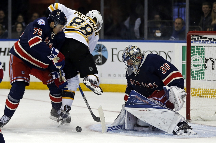 Stepan, Hayes score short-handed as Rangers beat Bruins 5-2