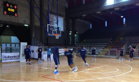 The Rhode Island Rams men's basketball team practices before a scrimmage in Italy. Free use image. Mandatory Credit: Rhody MBB (@RhodyMBB), twitter.com