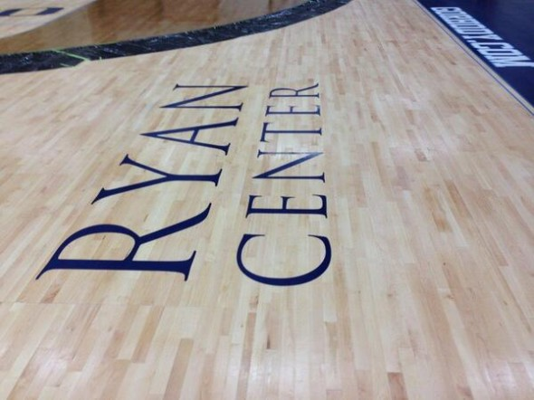 Ryan Center hardwood