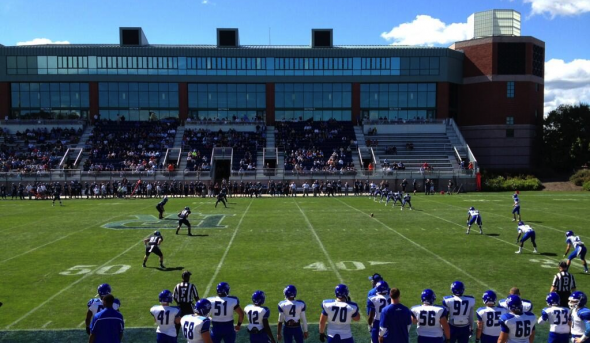 Sept 28, 2013; Kingston, RI, USA; The Rhode Island Rams take on the Central Connecticut State Blue Devils at Meade Stadium. Free use image. Mandatory Credit: Andy (@IronJag), twitter.com