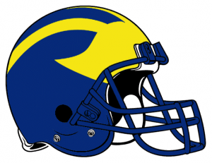 Delaware Fightin' Blue Hens helmet