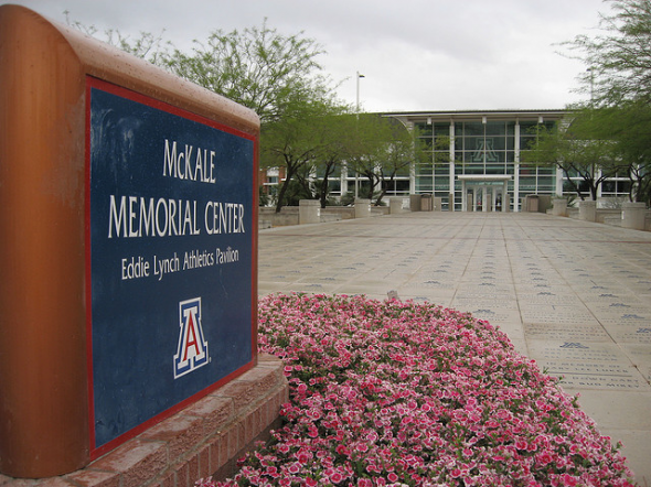 The outside of the McKale center on the campus of the University of Arizona. Free use image. Mandatory Credit: Ken Lund, flickr.com