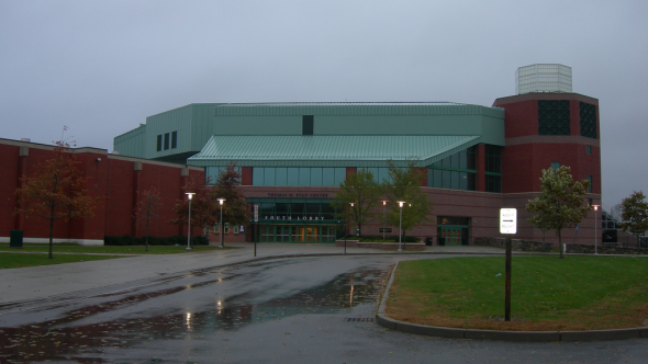 The Thomas M Ryan Center, home of the Rhode Island Rams on the campus of the University of Rhode Island in Kingston, RI. Free use image. Mandatory Credit: Jimmy Emerson (jimmywayne), flickr.com