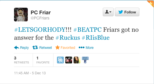 @PCFriars Let's Go Rhody