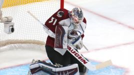 Calvin Pickard filling in nicely between the pipes for the Colorado Avalanche